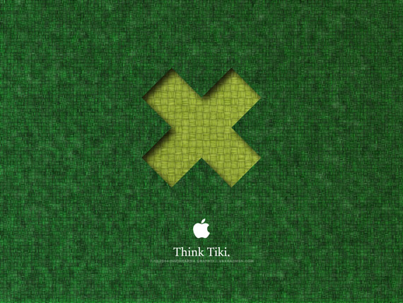 Think Tiki apple-wallpaper