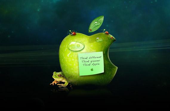 Think green apple-wallpaper