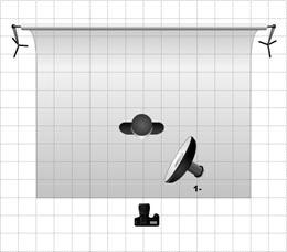 Эту схему постановки света стоит использовать, когда вам нужно чётко выделить контуры/силуэт модели.